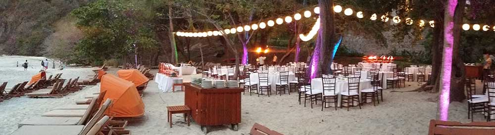 Beach party set-up