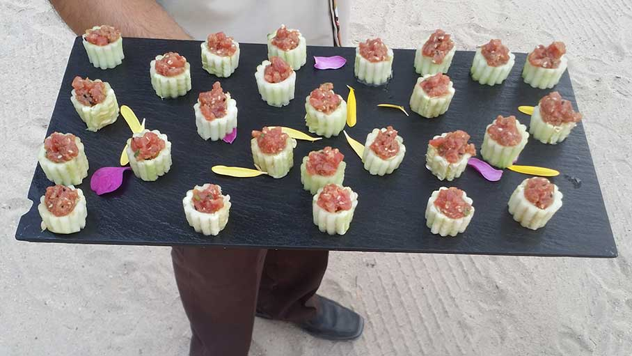 Tray of hors d'oeuvres