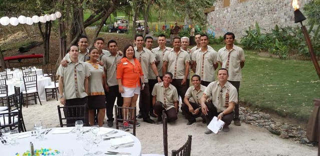 Christina with resort staff