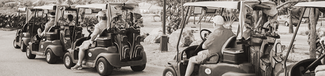 Golf Carts headed to green