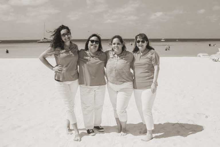 The Dexter Howard Event Team on the Beach