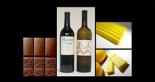 Wine and Chocolate | Red and White Wine with Swiss Dark Chocolate or Meyer Lemon White Chocolate