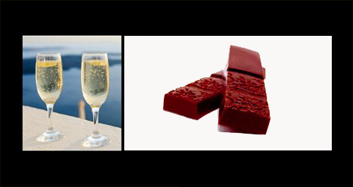 Champagne with Chocolates